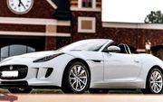 Кабриолет Jaguar F-Type белый